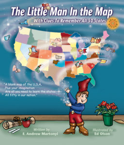Little Man in the Map - Fun geography books for kids